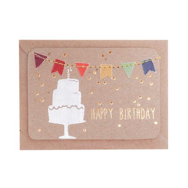 """Mini Kärtchen """"Happy Birthday"""""""