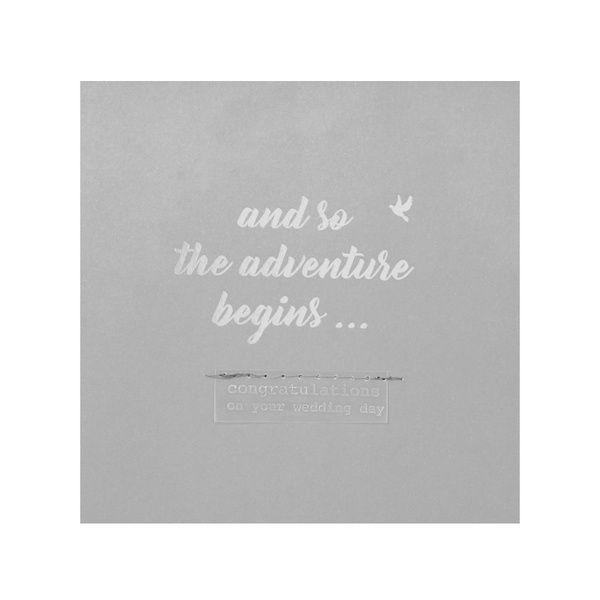 """Hochzeitskarte """"And so the adventure begins"""""""