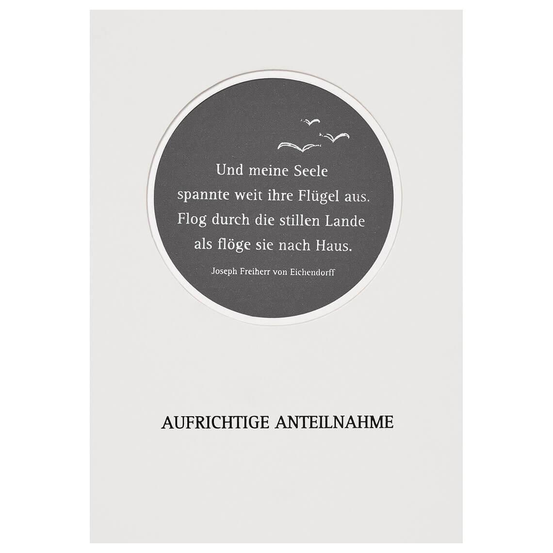 Räder Passepartout Trauerkarte STERNE