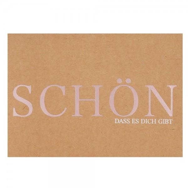 "Glanz Postkarte ""Schön"""