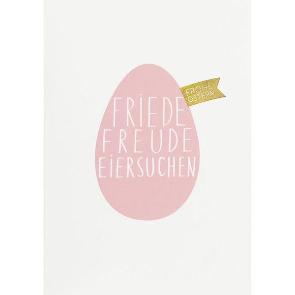 "Postkarte ""Friede Freude Eiersuchen"""