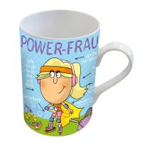 "Henkelbecher ""Power-Frau"""