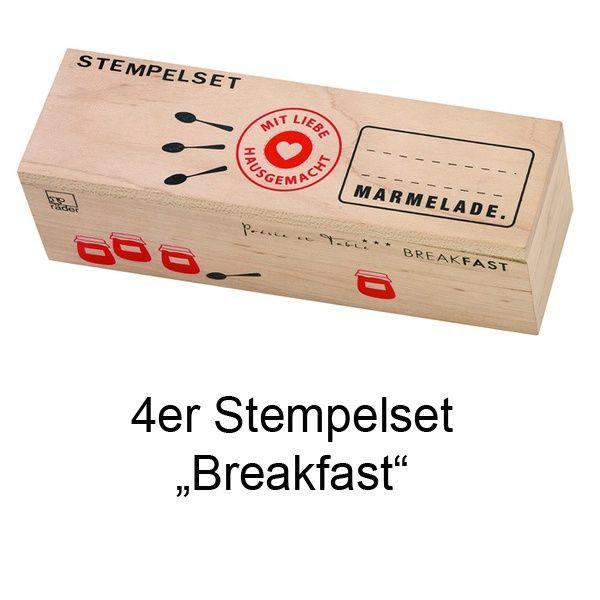 """Stempelset """"Breakfast"""" 4er Set"""