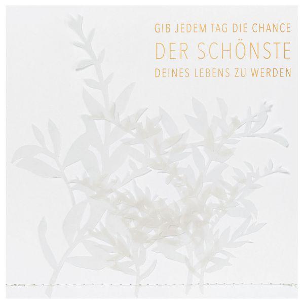 """Transparente Poesiekarte """"Der schönste Tag"""""""