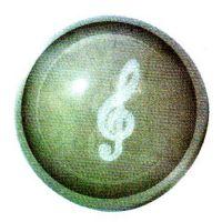 Traumkugel (Groß) Motiv Notenschlüssel