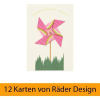 "Windrad Karte ""Congratulations"" 12er Set"