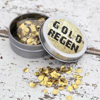 Konfettidose - Goldregen