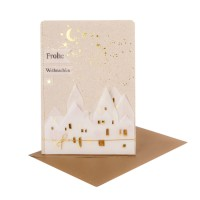 """Winter Silhouetten Karte """"Frohe Weihnachten"""""""