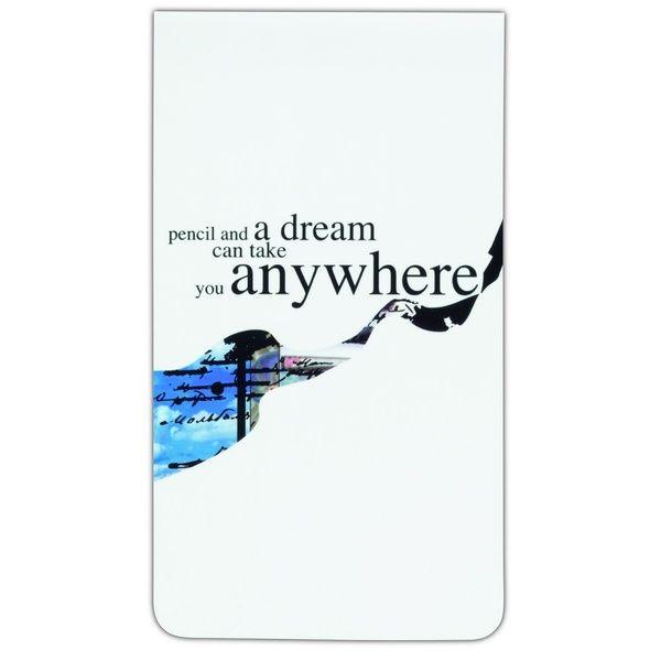"Magnetlesezeichen - ""Pencil and a dream..."""