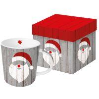 "XXL Henkelbecher ""Santa on Wood"""