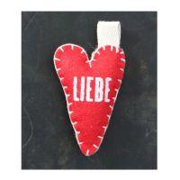 """Filzherzen """"Liebe"""""""
