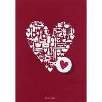 "Buttonkarte ""Alles Liebe"""