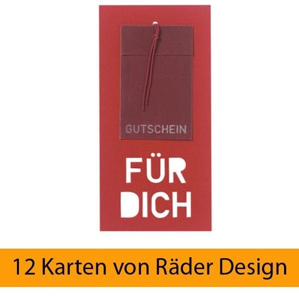 """Neue Gutscheinkarte """"Für Dich"""", 12er Set"""