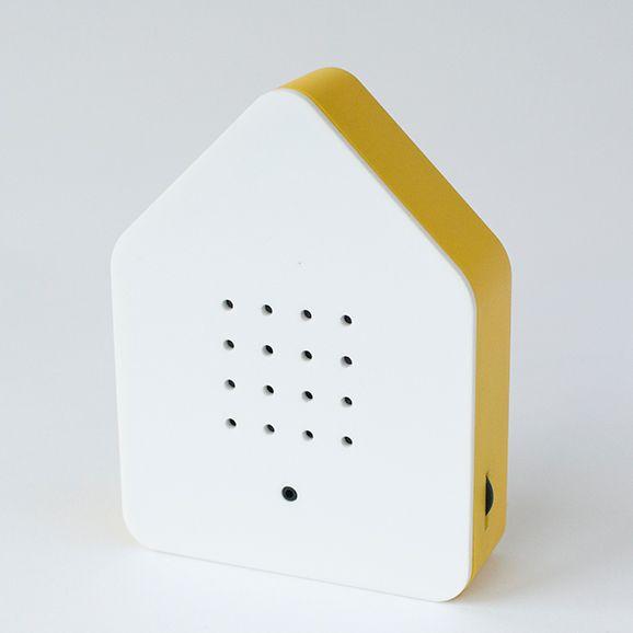 Zwitscherbox Weiß - gelber Rand