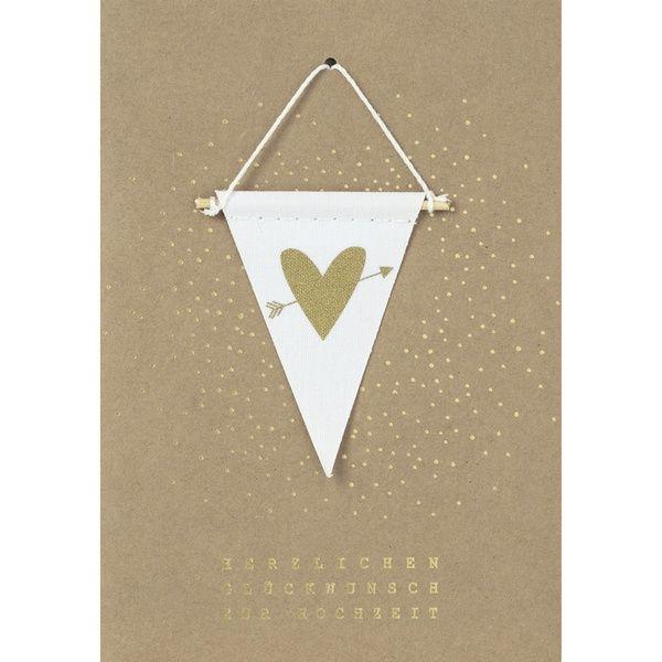 """Wimpelkarte """"Herzlichen Glückwunsch zur Hochzeit"""""""
