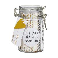 Herzstücke Geschenkglas For you Für Dich Pour toi