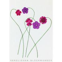 "Herzblüten Karte ""Blumen"""