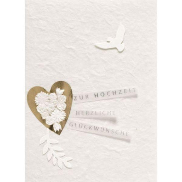 """Blütenhochzeitskarte """"Taube"""""""