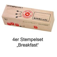 "Stempelset ""Breakfast"" 4er Set"