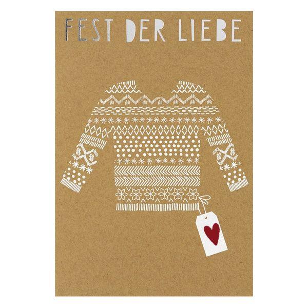 """Weihnachts Glanzstücke Karte """"Fest der Liebe"""""""