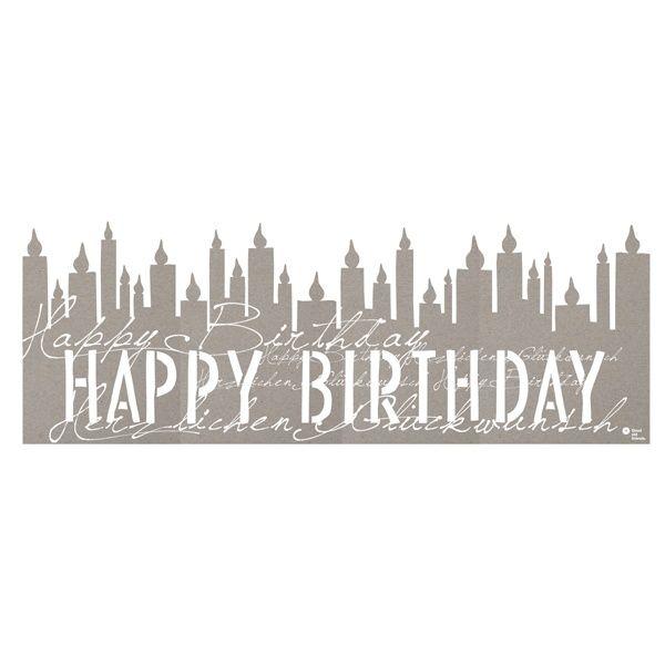 "Silhouette ""Happy Birthday"""