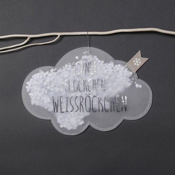 """Winter Konfettiregen """"Wolke. Schneeflöckchen"""""""