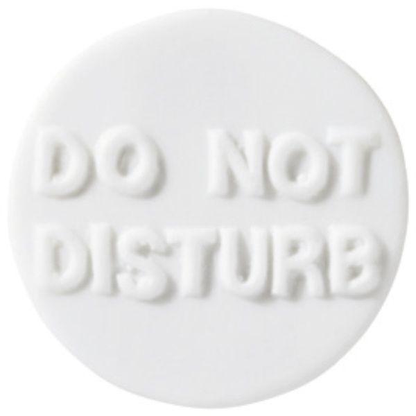 """Lieblinge Porzellanbutton """"Do not distrub"""""""