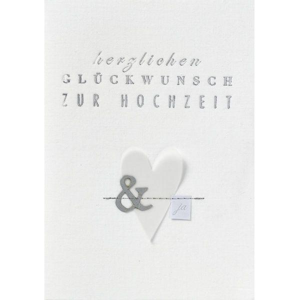 """Hochzeitsstoffkarte """"Herzlichen Glückwunsch zur Hochzeit"""""""