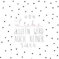 """Servietten """"Von Liebe allein ..."""""""