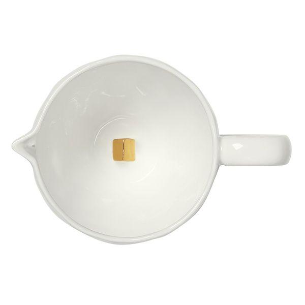 Milchkännchen mit Echtgold