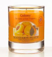 Duftkerze im Glas, klein - Mandarin Peach (Mandarine Pfirsich) 35 h