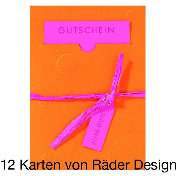 """Gutscheinpräge Karte """"Alles Gute"""" 12er Set"""