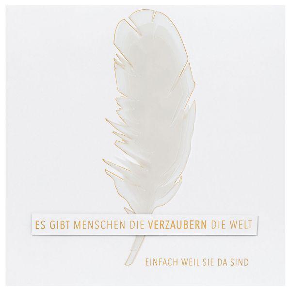 "Transparente Poesiekarte ""Verzaubern"""
