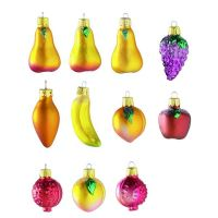 X-Mas Mini Ornaments Früchte, 3er Set