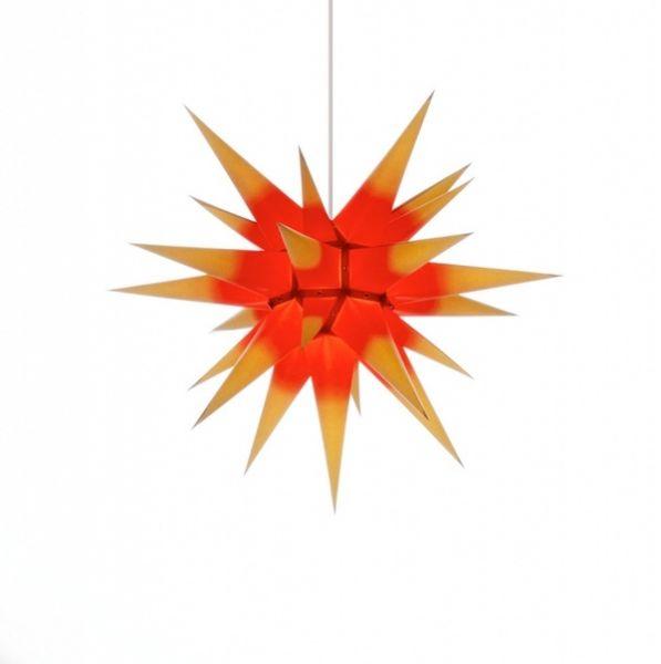 Herrnhuter Stern für Innen, Roter Kern-Gelb 60 cm