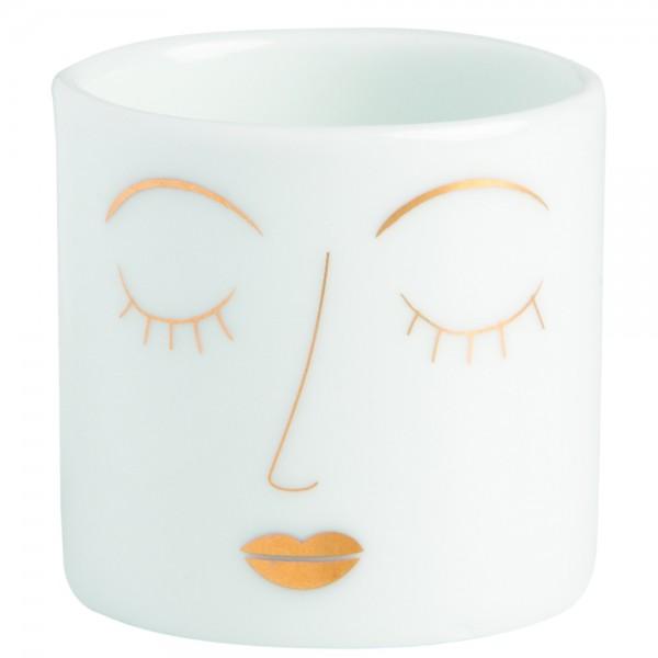"""Teelichthalter Helle Freude """"Gesicht"""""""