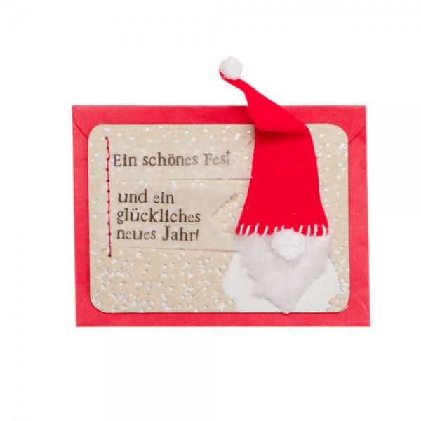 """Mini Kärtchen """"Ein schönes Fest und..."""""""