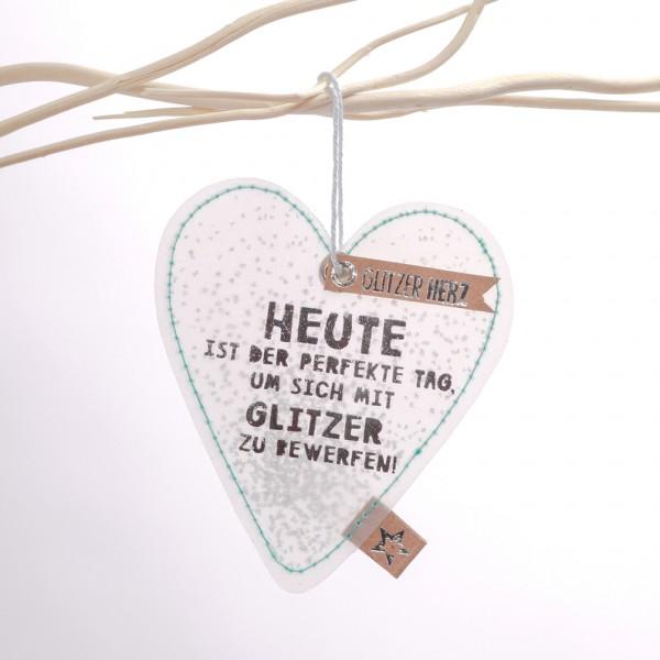 """Glitzer Herz """"Heute ist der perfekte Tag"""""""