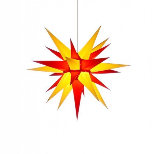 Herrnhuter Stern für Innen, Gelb-Rot 60 cm