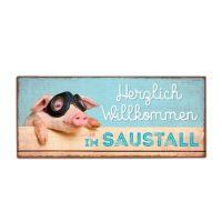 la vida - Metallschild - Saustall