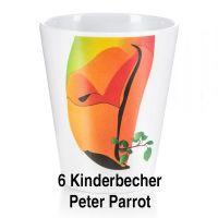 "Kinderbecher ""Peter Parrot"" 6er Set"