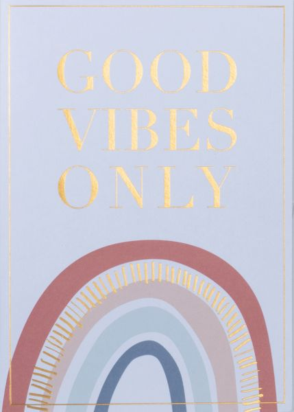Grußpost Regenbogenkarten - Good vibes only