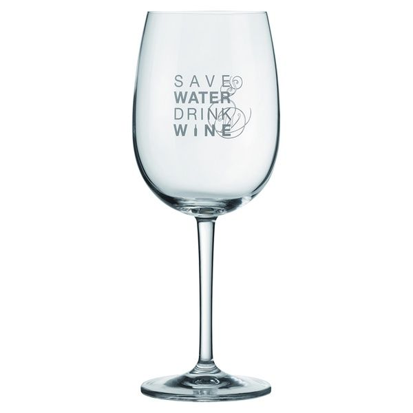 """Vino Rotweinglas """"Save water drink wine"""""""