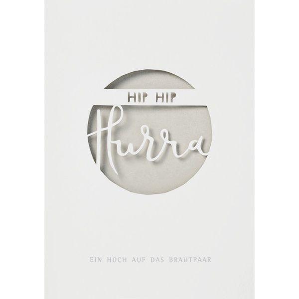 """Hochzeitskarte """"Hip Hip Hurra"""", Gold"""