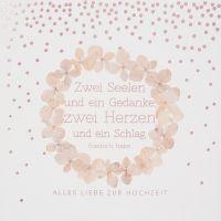 """Blütenkarte """"Hochzeit"""""""