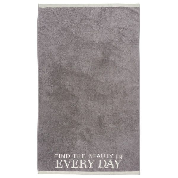 "Badetuch ""Every day"", Grau"