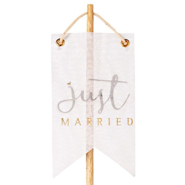 "Wimpelstecker ""Just married"", gold"