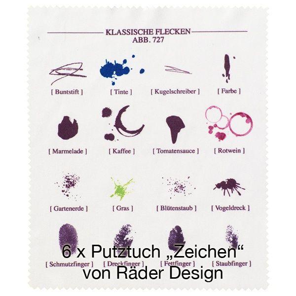 """Putztuch """"Zeichen"""" 6er Set"""