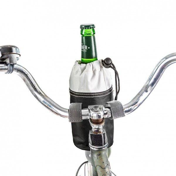 Fahrradtasche für Flaschen - Bottle Bag Schwarz / Weiß
