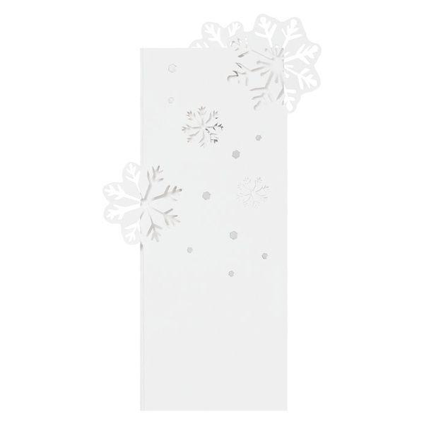 """Pure White Karte """"Schneeflocken"""""""